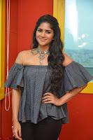 Mega Akash in a sleeveless Off Shoulder Cute Dress Stunnign beauty at Radio Mirchi Promoting Movie LIE ~ Celebrities Galleries 055.JPG