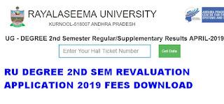 Manabadi RU Degree 2nd Sem Revaluation Application 2019 Download 1