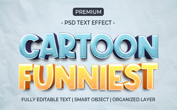 Cartoon Funniest Text Effect Template