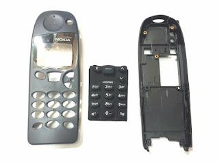 Casing Nokia 5110 jadul Fullset Casing Depan Keypad Tulang