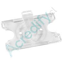 Porta credencial giratorio acrílico transparente