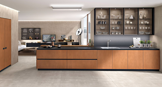 Modern kitchen crockery unit designs for modular kitchen