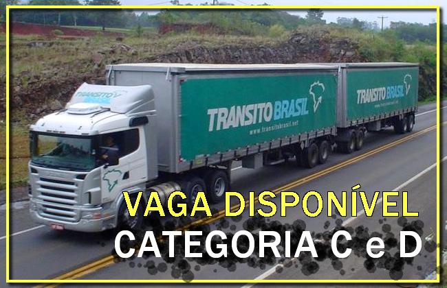 Trânsito Brasil abre vagas para Motorista categoria C e D