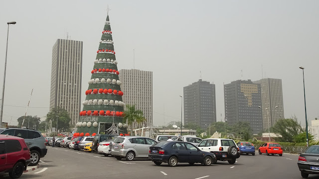 Biggest christmas tree in the Ivory Coast