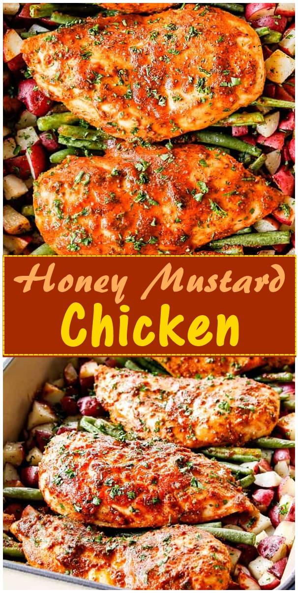 Honey Mustard Chicken #dinnerrecipes