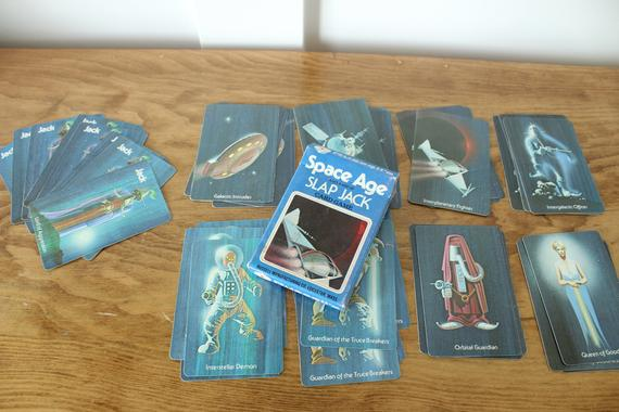Space Age Slap Jack. Cards laid out