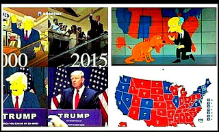 Aangirfan THE US ELECTION WILL BE WON BY - Simpons us map vs real voters map