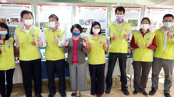 臺中農改場展豐沛研發能量 硫黃應用豌豆白粉病防治