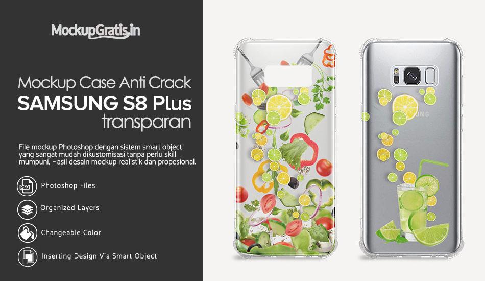 Mockup Softcase Anti Crack Samsung S8 Plus Gratis