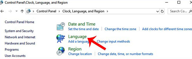 how to change computer language