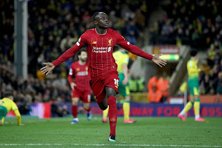 Norwich 0-1 Liverpool: Mane extends Reds' winning run with 100th goal in England