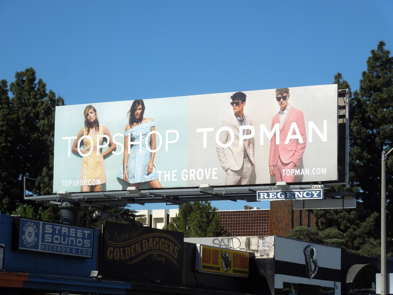 Topshop Topman USA billboard