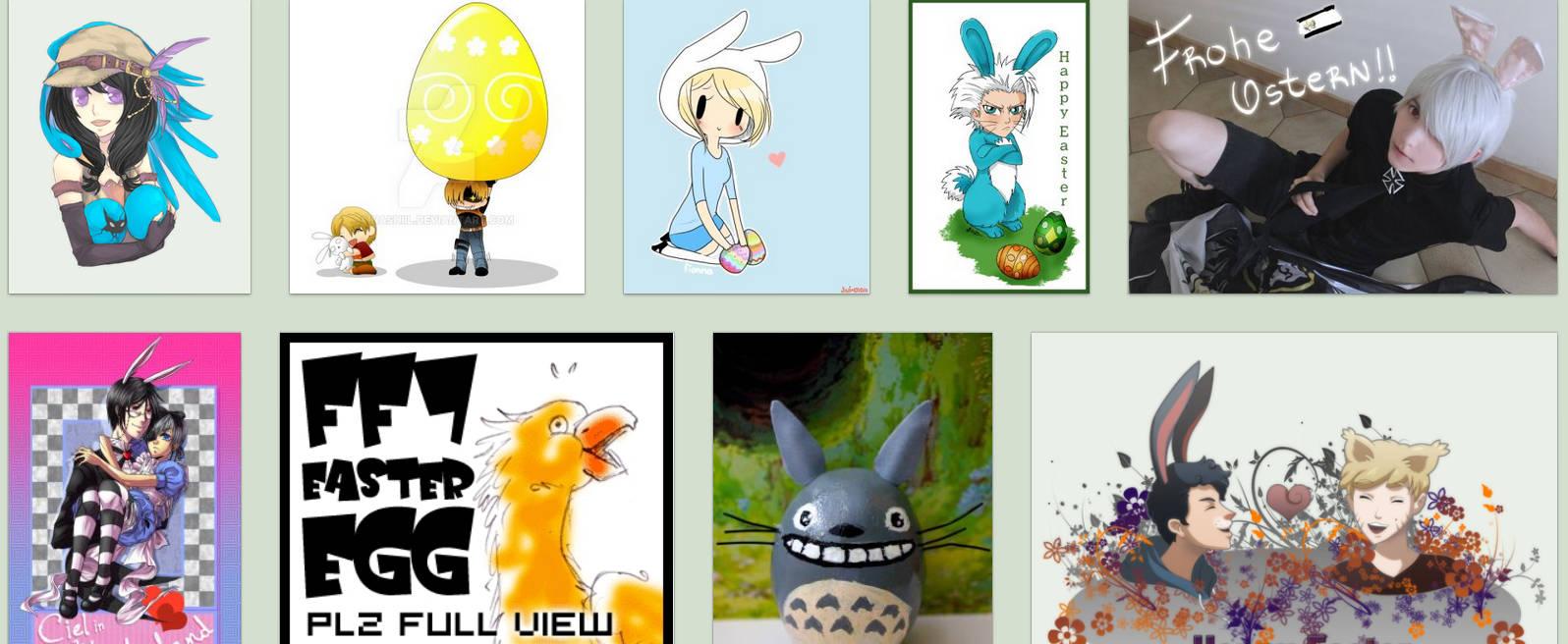Wielkanocne rysunki z anime na DeviantArt