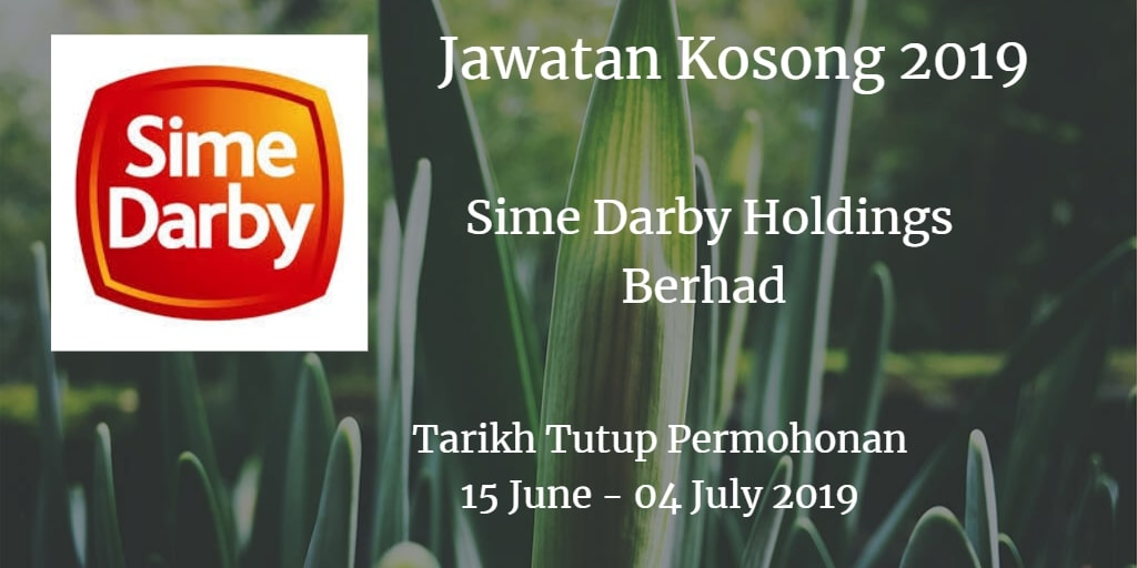 Jawatan Kosong Sime Darby Holdings Berhad 15 June - 04 July 2019