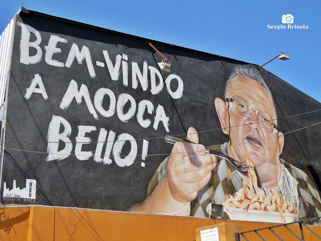 Close-up do curioso Grafite do Bairro da Mooca - São Paulo