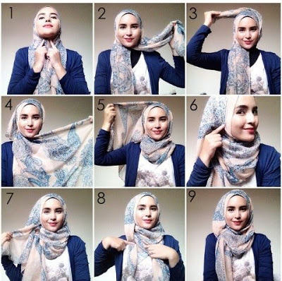 Tutorial Hijab Segi Empat Terbaru | Tutorial Hijab Terbaru ...