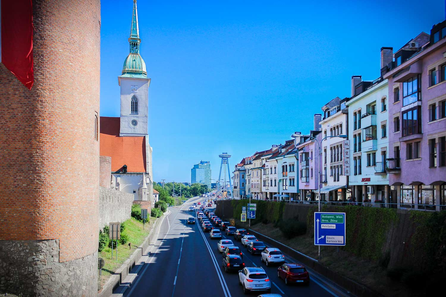 Bratislava Wall Fortifications and UFO