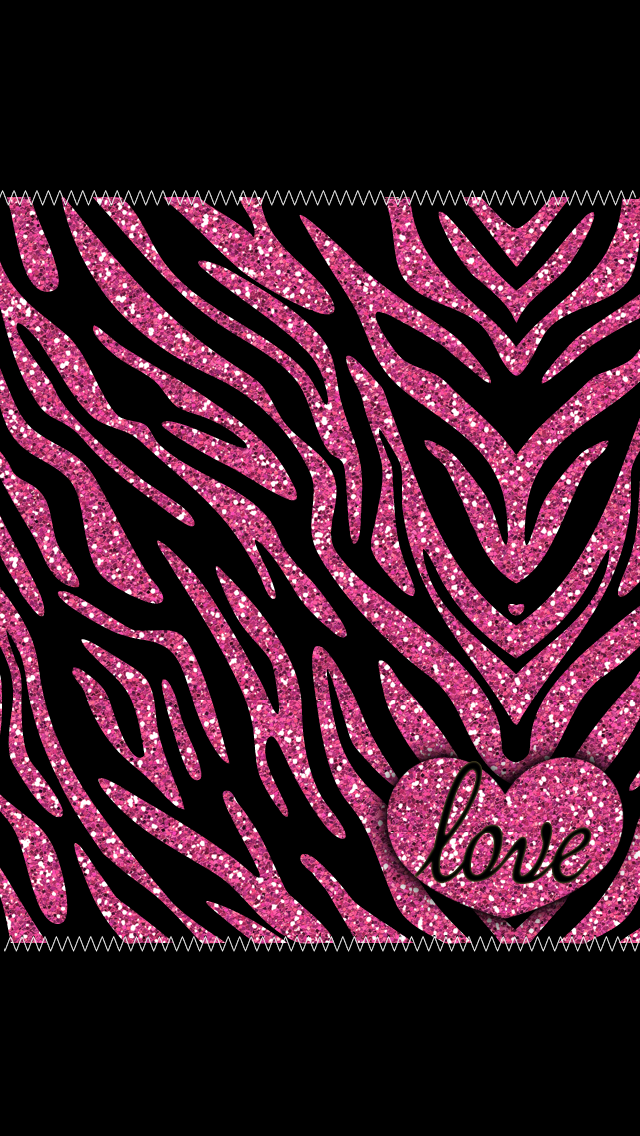 Bling wallpaper overload iphone 5 and android mommy lhey - Pink zebra wallpaper for iphone ...