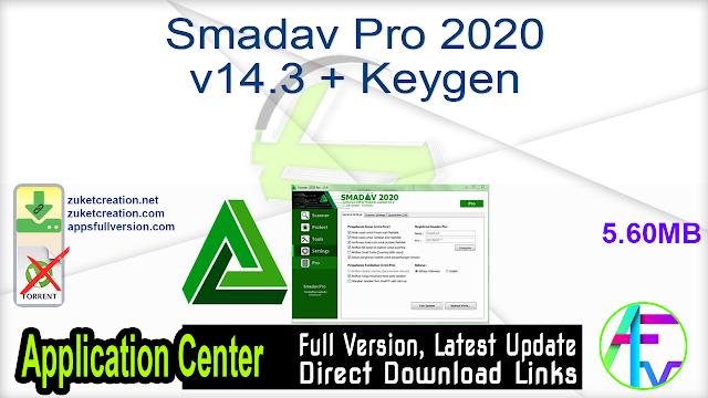 Smadav Pro 2020 v14.3 + Keygen