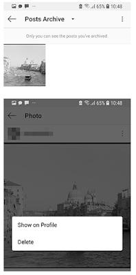 Cara menggunakan fitur Arsip di Instagram