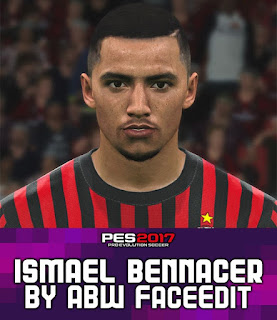 PES 2017 Faces Ismaël Bennacer by ABW_FaceEdit