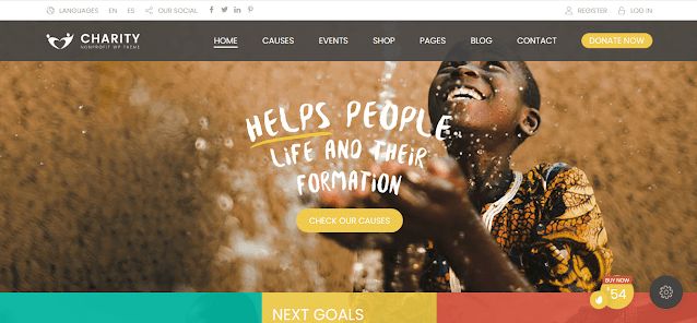 Nonprofit Fundraising & Charity WordPress Themes  With Donation System   Charity Foundation