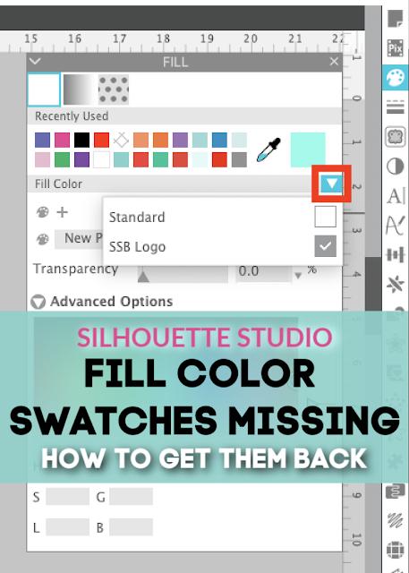 silhouette 101, silhouette america blog, fill color, silhouette studio tutorials, studio v4.2