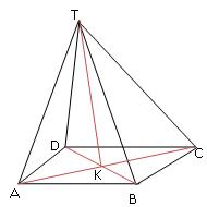 Contoh soal sudut garis dengan bidang pada limas segi empat