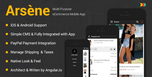 Download Free Arsène | iOS & Android eCommerce Mobile App