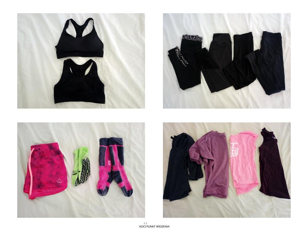 ubrania sportowe minimalistyczna garderoba