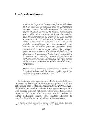Postface du traducteur à Économie des processus révolutionnaires de João Bernardo