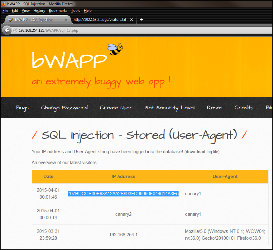SQL Injection through HTTP Headers – popped io