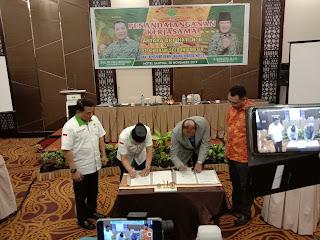 penandatanganan kerjasama dengan PT Shriram Seed Indonesia dan launching benih jagung hibrida HKTI-1 di Kota Mataram