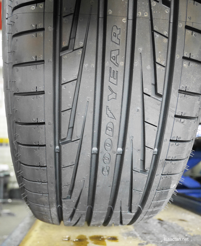 Check out the pretty tyre threads of my Goodyear Eagle F1 Directional 5 Tyre