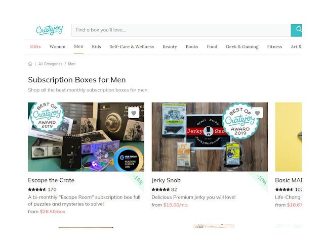 men's subscription boxes