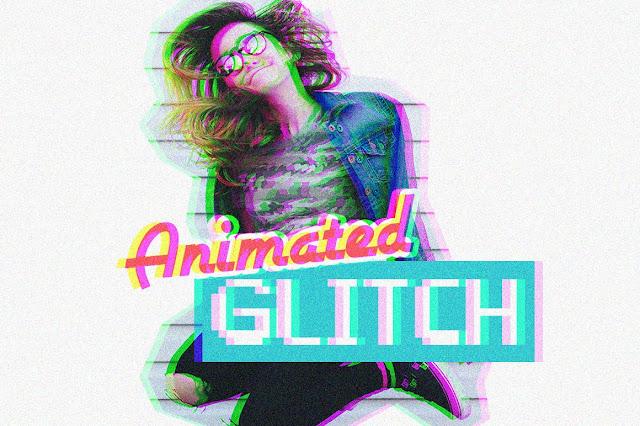أكشن للفوتوشوب عمل نأتير متحرك على الصور | Animated Glitch Photoshop Action