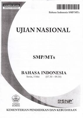 Pembahasan Soal UN Bahasa Indonesia SMP 2017