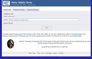 Cek Error di W3C Markup Validation Service