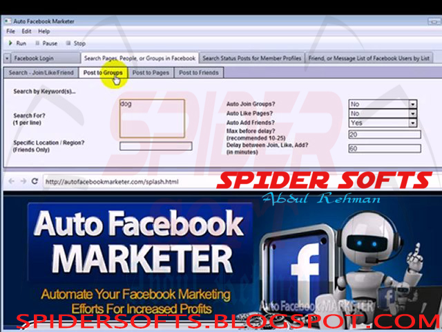 Auto FB ( Facebook ) Marketer 3 02 Software Full Version