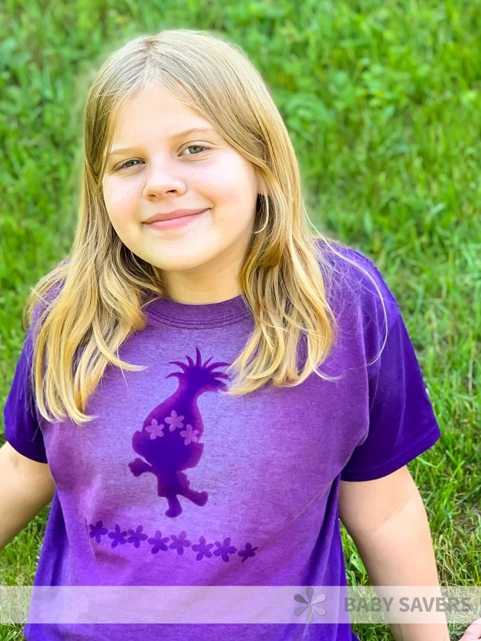bleach dye t shirt - summer camp activities