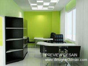 gambar interior 3d kantor minimalis