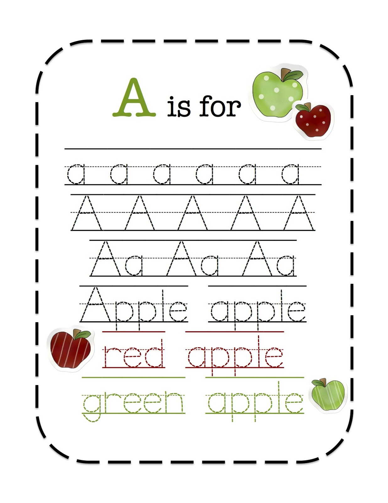 Preschool Apple Worksheets