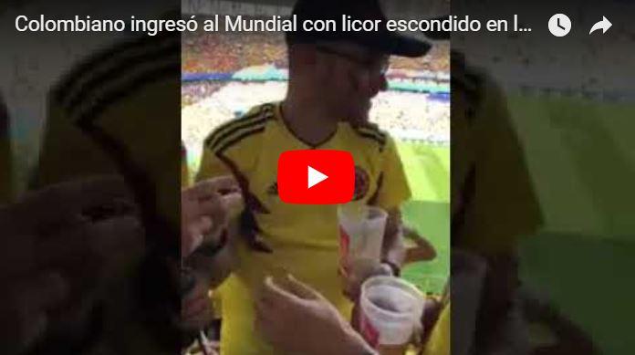 Colombiano ingresó al Mundial con licor escondido en los binoculares