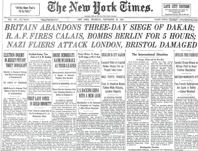 26 September 1940 worldwartwo.filminspector.com NY Times