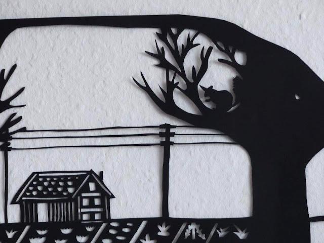 Scherenschnitt DIY Anleitung Entschleunigung Entspannung Hobby Sanduhr Lebenszeit Wand Bild Deko selbstgemacht Silhouette