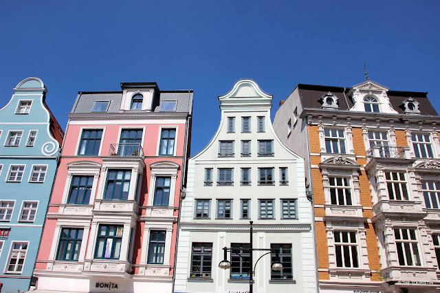 Germany, Rostock, Facades, colour