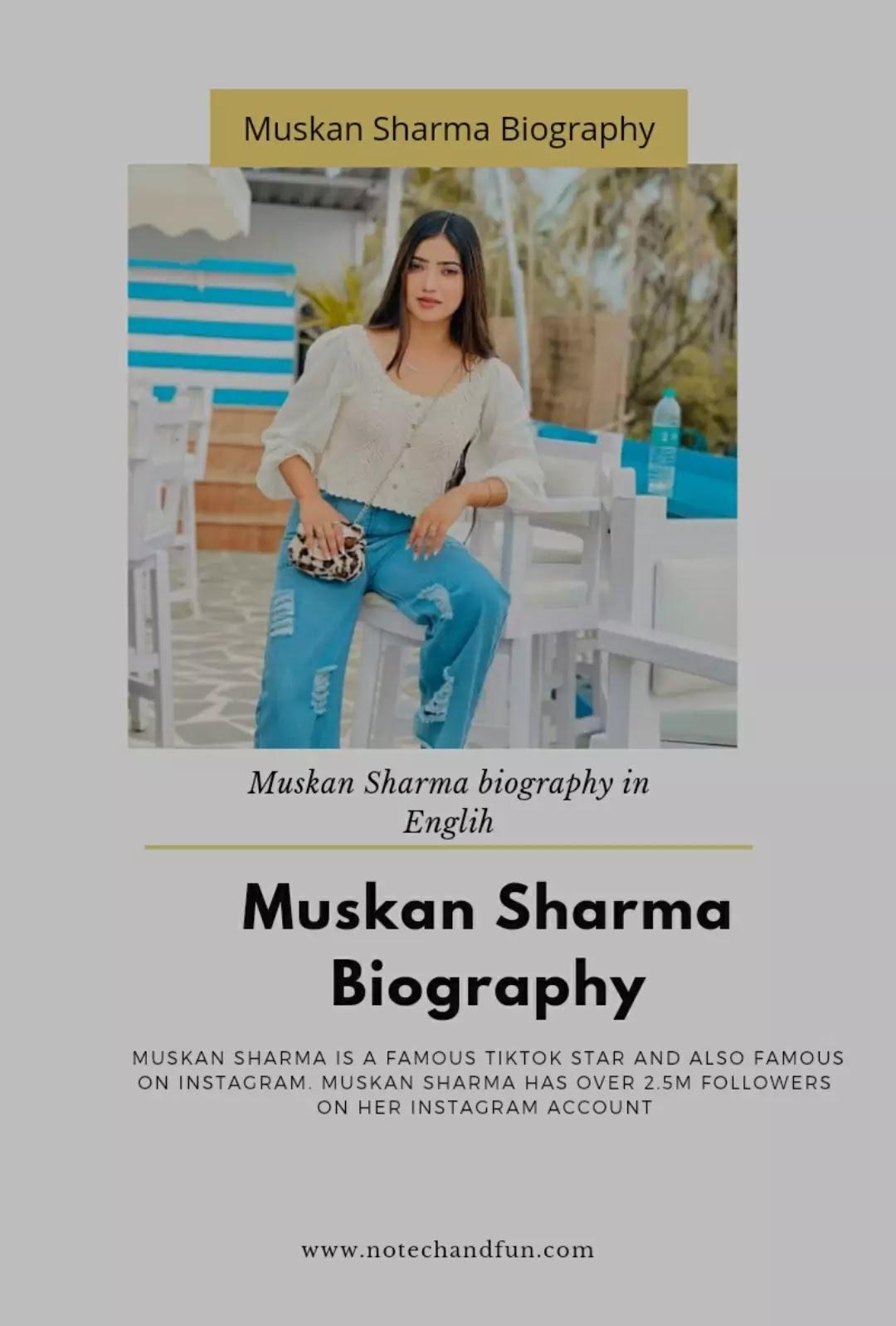 Muskan Sharma Biography