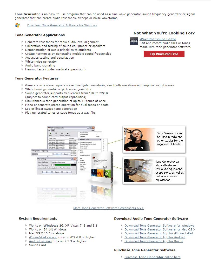 Tone Generator Software Registration Code