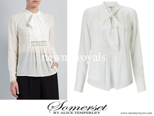 Kate Middleton wore Somerset by Alice Temperley Spot Pretty Blouse