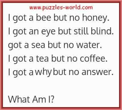 I got a bee but no honey.